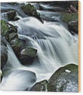 Water Flowsthrough The Mountains Wood Print