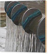 Water Fountain Natural Art In Progress Wood Print