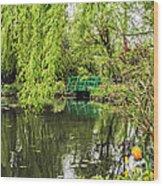 Water Garden Wonder Wood Print