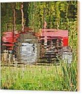 Water Gardening Wood Print