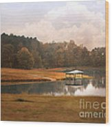 Water Gazebo Wood Print