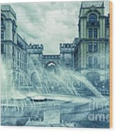 Water In The City Wood Print