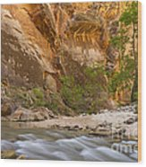 Water In The Narrows Wood Print