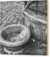 Water In The Square Wood Print