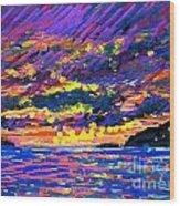 Water Island Sunset Wood Print