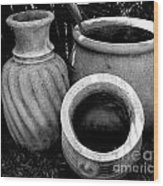 Water Jugs Wood Print