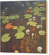 Water Lilies Wood Print by Isaak Ilyich Levitan