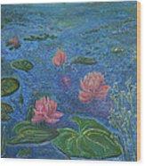 Water Lilies Lounge 2 Wood Print