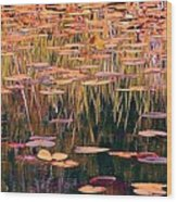 Water Lilies Re Do Wood Print