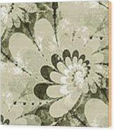 Water Lilies Spirals Wood Print