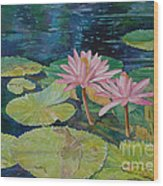 Water Lily In The Morning Wood Print