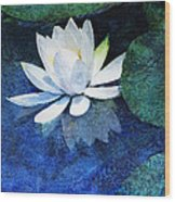 Water Lily Two Wood Print by Ann Powell