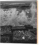 Water Lines Wood Print