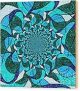 Water Mandela Wood Print
