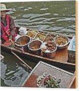 Water Market Thailand 1 Wood Print