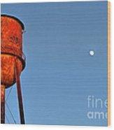 Water Moon In Watkinsville Georgia South Of Uga Wood Print