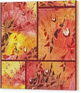 Water On Color Collage Eight Wood Print