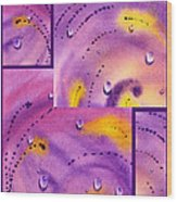 Water On Color Collage Five Wood Print