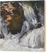 Water On The Rocks 2 Wood Print