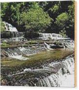 Water On The Rocks Wood Print