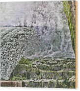 Water Over A Dam Wood Print