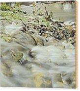 Water Over The Dike Wood Print