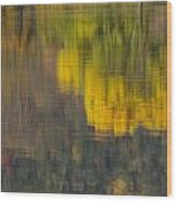 Water Reflections Abstract Autumn 2 B Wood Print