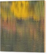 Water Reflections Abstract Autumn 2 C Wood Print