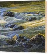 Beautiful Water Reflections On The Flowing Thornapple River Wood Print