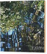 Water Reflections 7 Wood Print