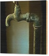 Water Sculpture Wood Print by Odd Jeppesen