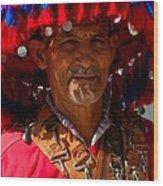 Water Seller Marrakesh Morocco Wood Print