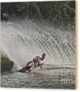 Water Skiing 12 Wood Print