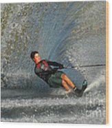 Water Skiing Magic Of Water 13 Wood Print by Bob Christopher