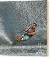 Water Skiing Magic Of Water 14 Wood Print
