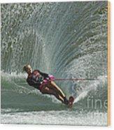 Water Skiing Magic Of Water 27 Wood Print