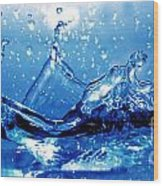 Water Splash Wood Print by Michal Bednarek