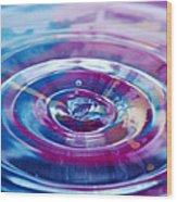 Water Splash Rings Wood Print