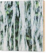 Water Spray Wood Print