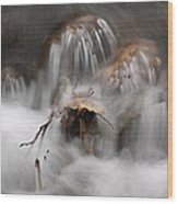 Water Study 015 Wood Print