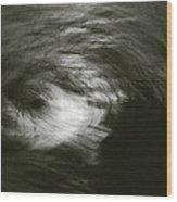 Water Swirl In The Moonlight Wood Print