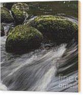 Water Swirl Wood Print