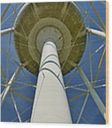 Water Tower Belly Wood Print