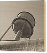 Water Tower In Deer Lodge Montana Wood Print