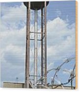 Water Tower In Detroit Wood Print