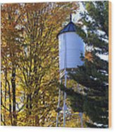 Water Tower Wood Print by Kathy DesJardins