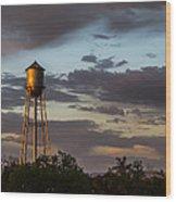 Water Tower Nm Wood Print