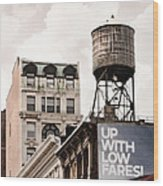 Water Towers 14 - New York City Wood Print