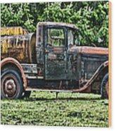 Water Truck Wood Print