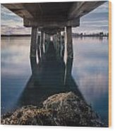 Water Under The Pier Wood Print